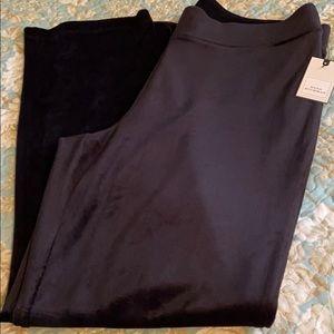 Dana Buchman Mineral Black Velour Pants